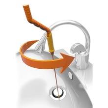 Drain Weasel Hair Anti-clog Tool Starter Kit Flexible Drain Snake Clog Stick for Shower Sink Bathtub Toilet Hair Removal