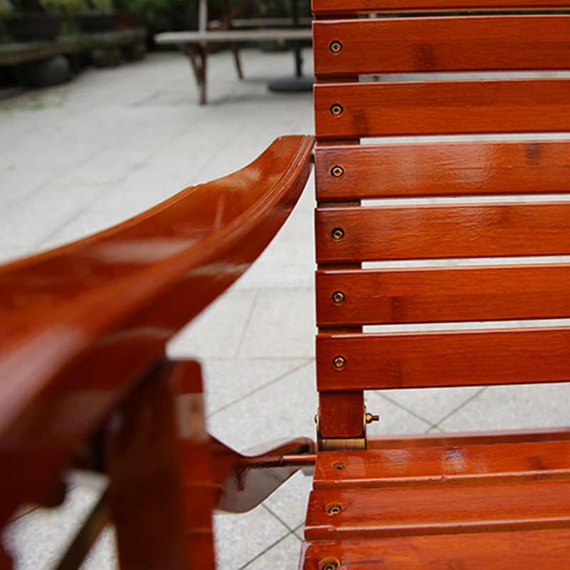 Ajustável Chaise Lounges Cadeira Espreguiçadeira Cadeira De Balanço Do Pátio Velho Bambu Cadeiras Dobráveis Verão Cochilo Cama de Carga Para o Pátio Do Escritório