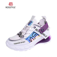 ROSSTYLE Classic Women Casual Shoes Vintage Round Toe Low Heel Comfortable Shoes Mixed Colors Lace up Fashion Sort Sneakers M9