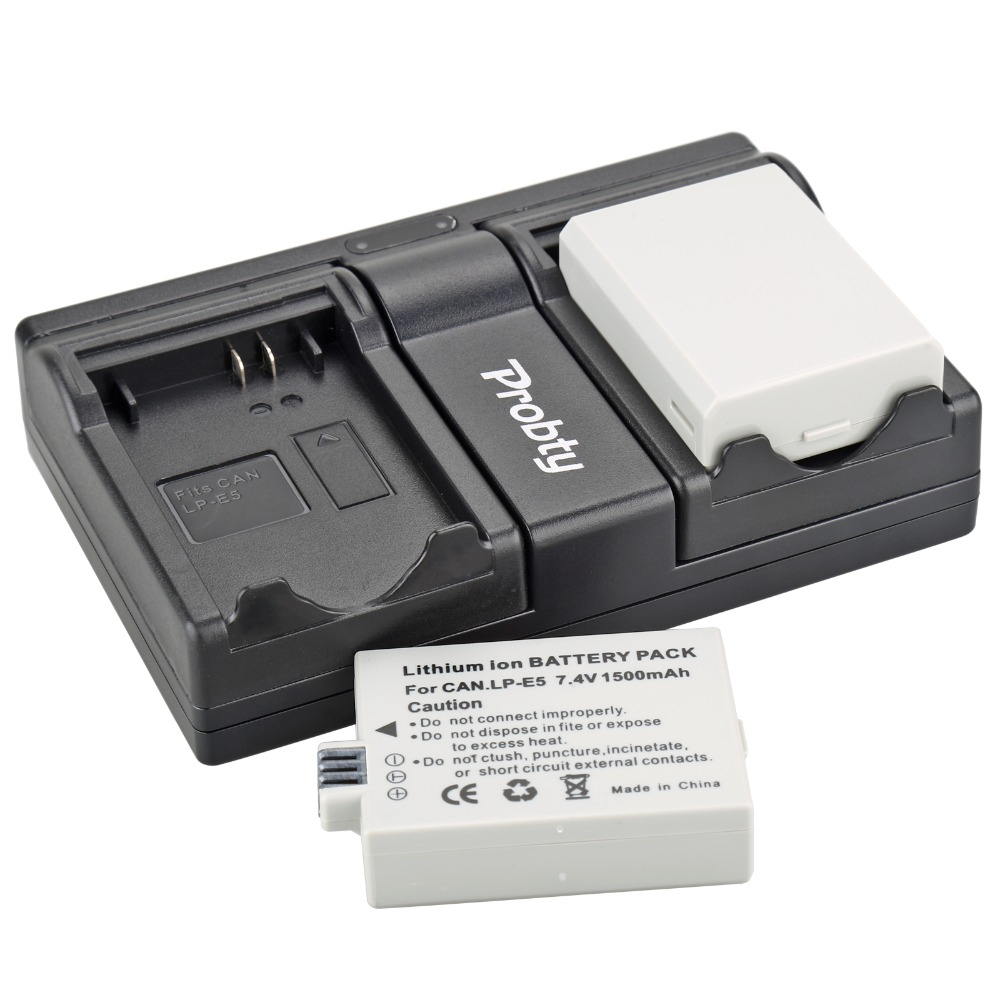 Consumer Electronics For Canon Eos 450d 500d 1000d Camera Battery Lp-e5 Charger