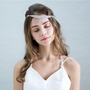 Image 2 - חדש אופנה כלה חתונה שיער אביזרי עלים קלאסי פשוט נזר נשים אלגנטי נזר יום נישואים תכשיטי מתנת אביזרים