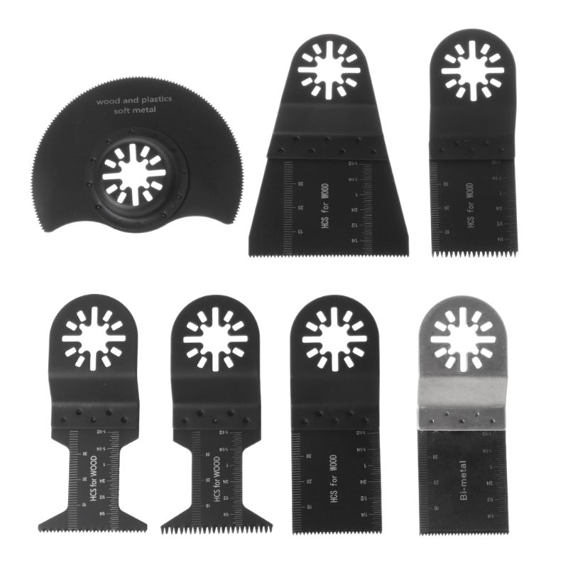 9Pcs/Set Metal Saw Blades Oscillating Multi Tool Accessories Kit Quick Release For Fein Makita Bosch