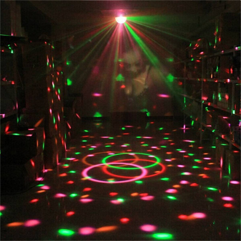 Home Disco Lights: Spectacular Sound Activated Rotating LED Disco Light For