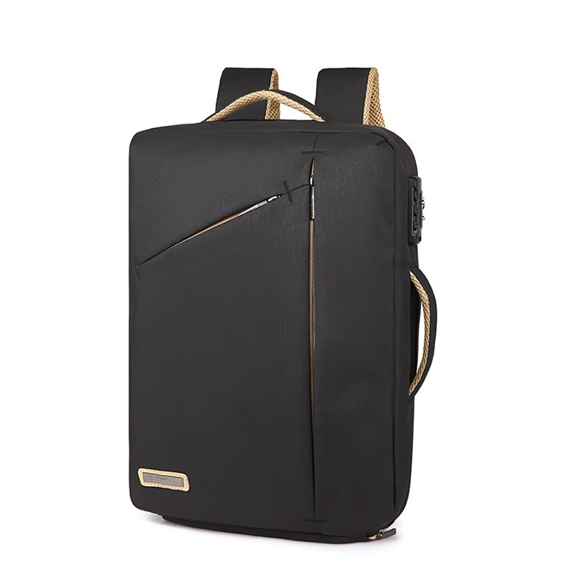 Stylish Slim 15.6 Inch Laptop Backpack Men Office Work Business Backpacks 2019 Unisex Black Ultralight School Bags For Boys Thin