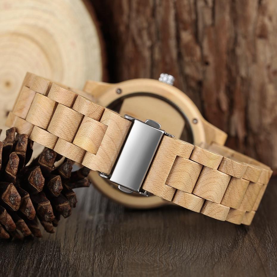 YISUYA Mens Women Natural Wood Watches Full Wooden Bamboo Wristwatch Fashion Hollow Dial Design Quartz Novel Handmade Clock Gift 2017 (19)