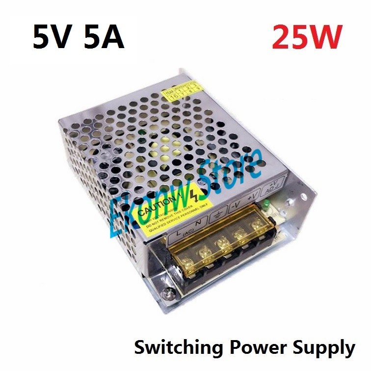 Utini 5V5A Switching Power Supply 5V25W Power S-25-5 Mechanical Equipment Power 220V to 5V