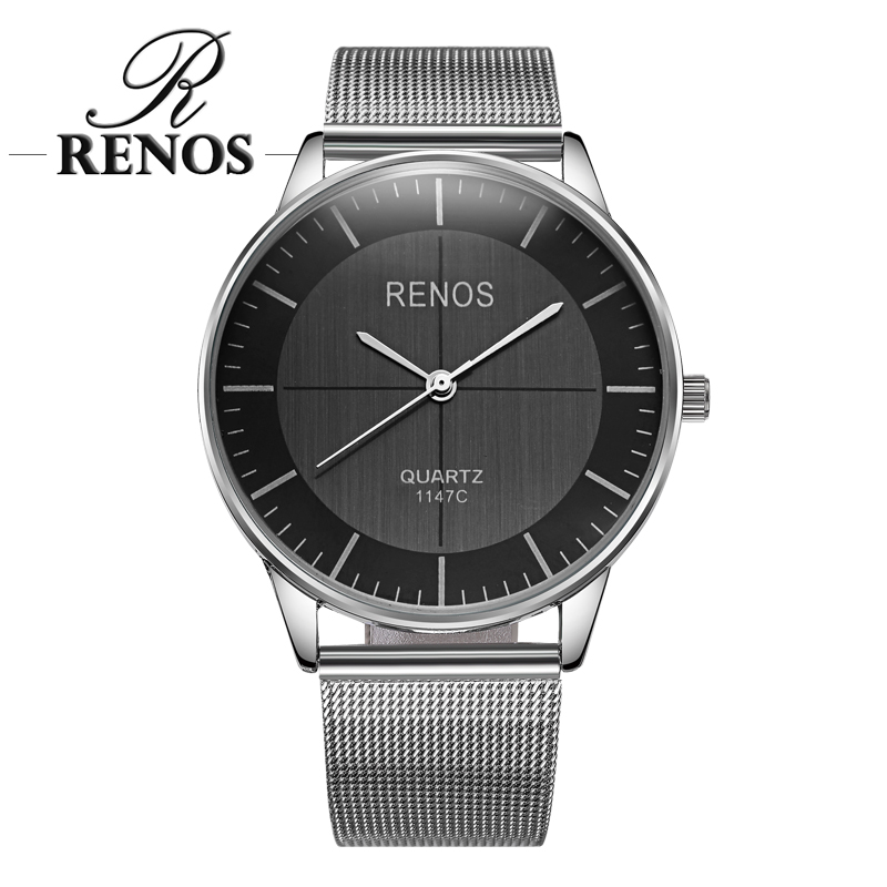 RENOS Women Watch In Box Simple Quartz Wristwatches Fashion Casual Lover Couple Watches Ladies Female Free