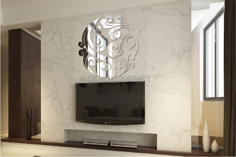 Acrylic Crystal Wall Decor: Acrylic Crystal 70x70cm Mirror Wallclouds Dimensional Wall