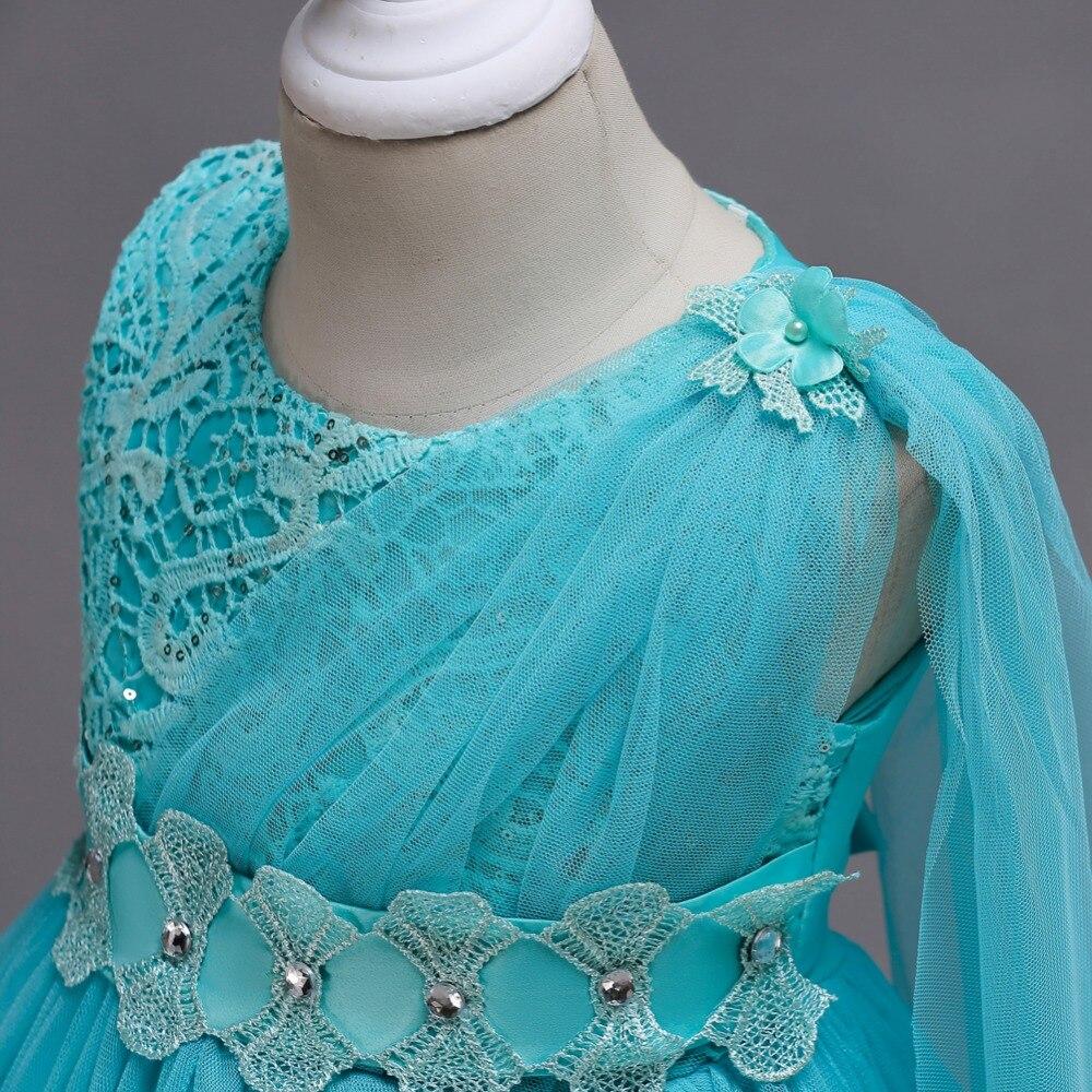 BH150J#лук кружева короткое бордовый цветок девочки платья детей'ы производительности платье свадебное платье партии платье выпускного вечера оптом одежда