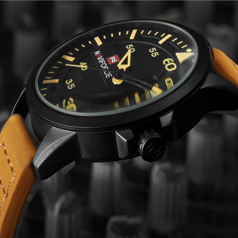 MAN Watch Top Brand Luxury Sport Quartz MENS WatchES Leather Strap 3ATM Waterproof Men's Wrist watch Relogio Masculino NARFORCE
