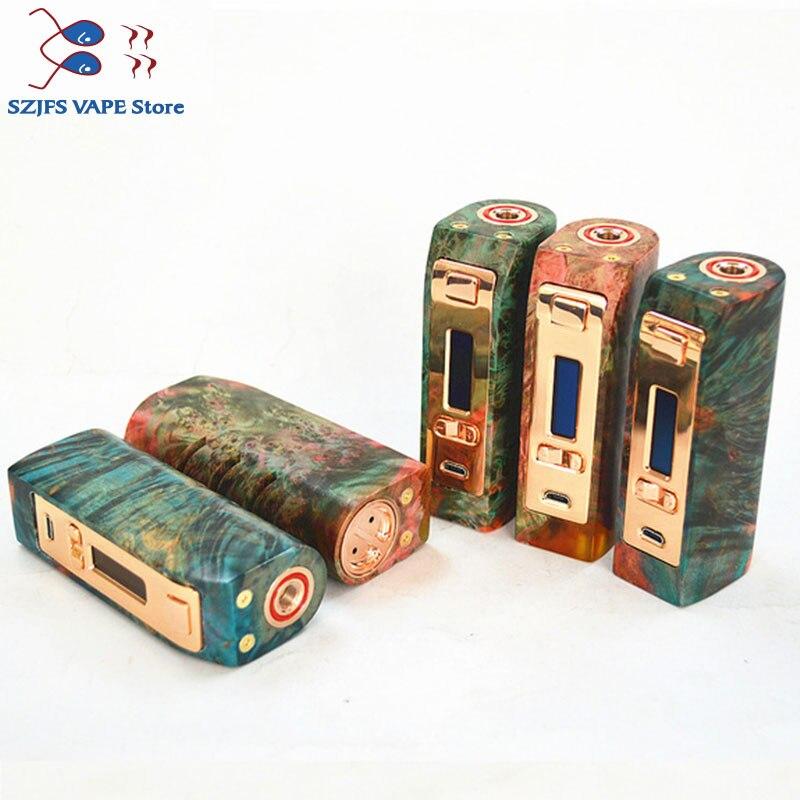 100% Original Yiloong brumisateur régulé bois stabilisé boîte mod 167 w TC Squonk MOD Max 167 W sortie 18650 batterie boîte Mod Vape Mod