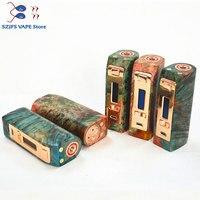 100%Original Yiloong fogger regulated wood stabilized box mod 167w TC Squonk MOD Max 167W output 18650 battery box Mod Vape Mod