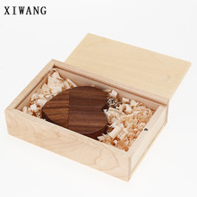 XIWANG Customizable company logo Wooden heart USB flash drive Pendrive2.0 4GB 8GB 16GB 32GB 64GB USB flash drive Memory stick