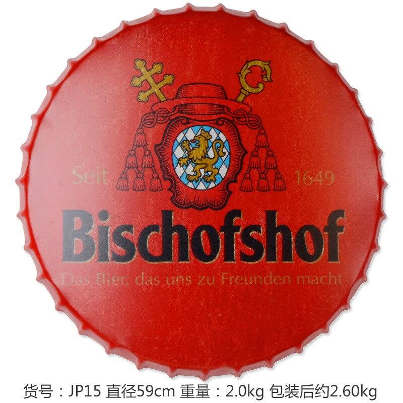 Bischofshof grande bière couverture étain signe Logo Plaque Vintage métal peinture mur autocollant fer signe Bar KTV magasin décoratif 59 CM