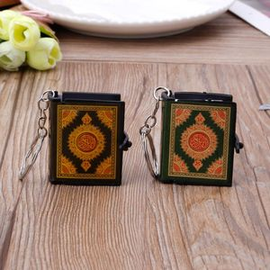 Image 4 - 1  PC Mini Ark Quran Book Real Paper Can Read Arabic The Koran Keychain Muslim Jewelry  Decoration  Gift