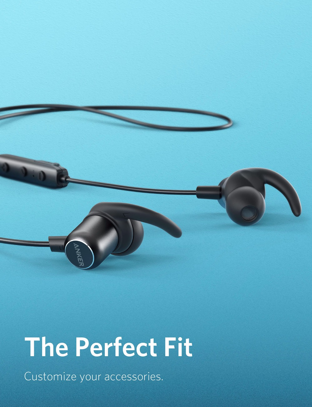 Anker SoundBuds Slim+ Bluetooth Earphones, Bluetooth 5 Magnetic Wireless Earbuds with 10-Hour Playtime IPX7 Waterproof for Sport