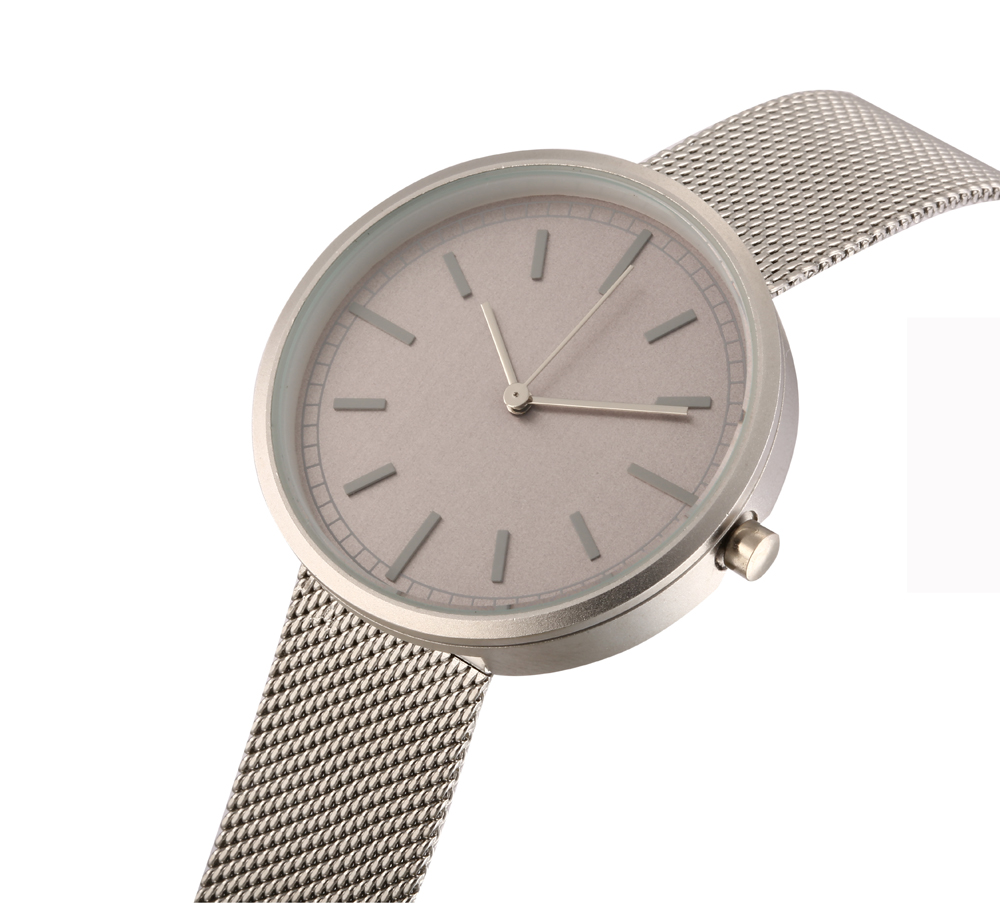 Simplest Dial Face Watches Minimalist Design Wristwatch  pure white dial face ziz time watches navy