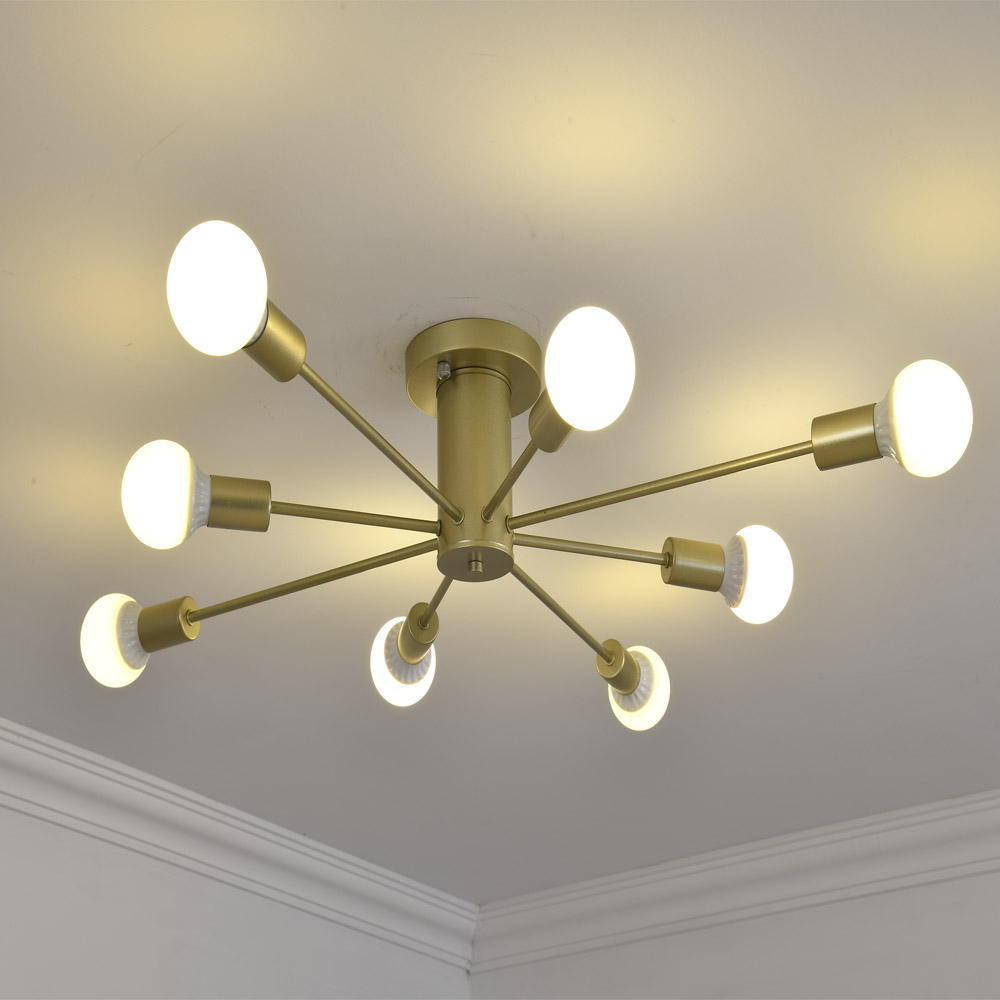 Image 2 - LED Pendant Lamp Modern Pendant Lights Hanging Vintage Multiple Rod Wrought Iron Lighting Ceilin Fixtures Home Decoration Light-in Pendant Lights from Lights & Lighting