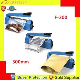 Free shipping  impulse sealer, Heat plastic bag Sealer, impulse bag sealing machine F300, hand press heating sealer film sealing Бутылка