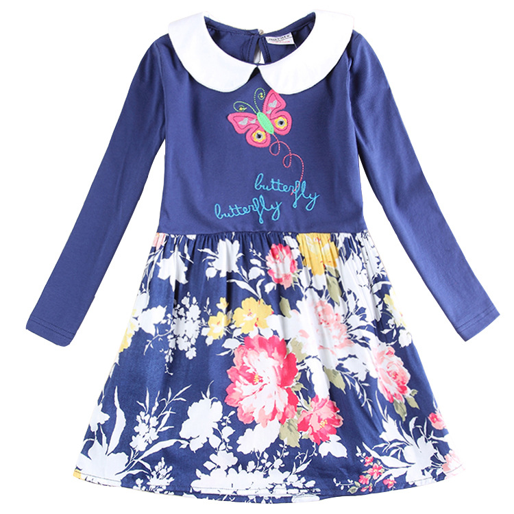 Princess Dress Girls Dresses Summer 2016 Brand Children Dress Kids Clothes Butterfly Print Baby Girls Dress Robe Enfant Fille girls dresses summer 2016 brand christmas dress princess costume robe fille enfant floral print kids dresses for girls clothes