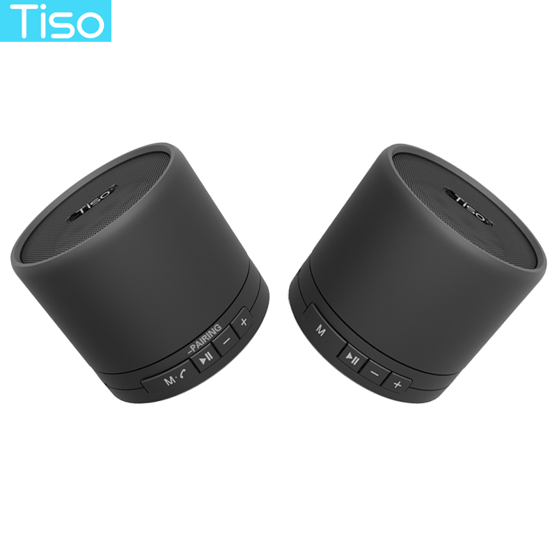 Tiso 10W TWS true wireless 3D stereo Bluetooth V4.2 super bass speakers metal mini portable loudspeaker TF card AUX with M