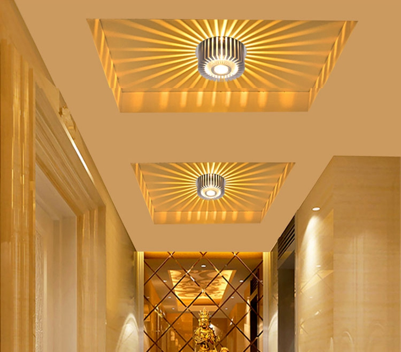 Modern LED Ceiling Light 3W Wall Sconce For Hotel KTV Art Gallery Decoration Balcony Lamp Porch Light Corridors Light Fixture (10)