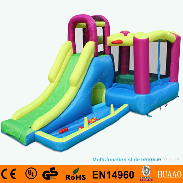 Multi Function Inflatable Slide Bouncer with Pool and Free CE blower