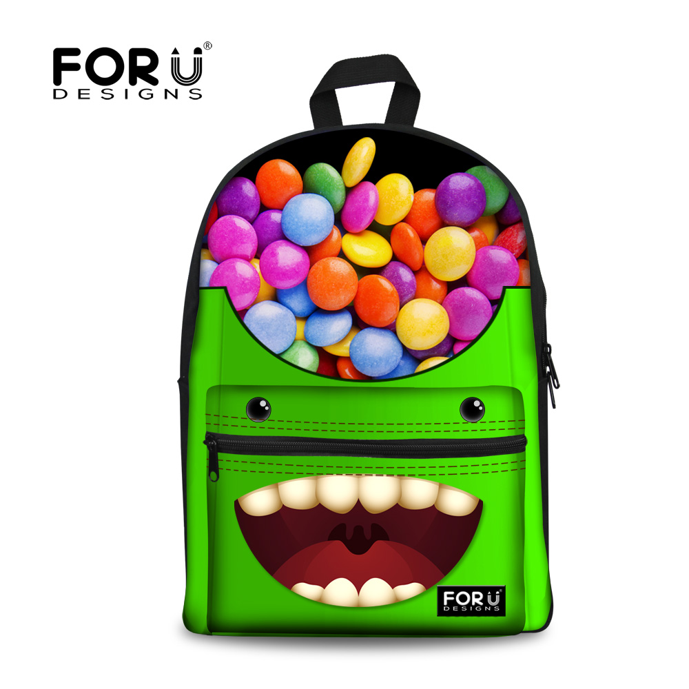 New Teenager Girls Backpack High School Student Monster Backpack for Children Casual Campus Women Book Bag Travel Backbag