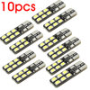 10pcs/lot T10 WHITE 12-2835/3528 SMD LED CANBUS OBC ERRO FREE XENON DC 12V CAR DOME READING SIDE MARK DOOR LIGHTS BULBS