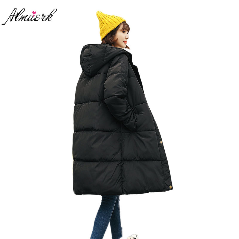 2017 new winter women jacket coat down cotton hooded   parkas   middle long paragraph loose thicker warm women jacket outerwear L039