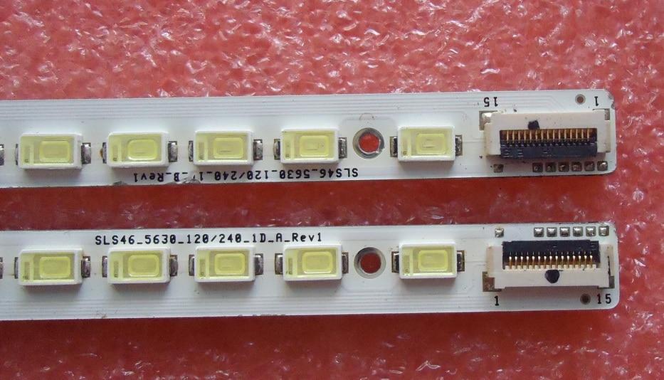 led רצועת lj64 רצועת LED LJ64-02639A SLS46-5630-120 / 240-1D-A-Rev1 B SLS46_5630_120 / 240_1D_A_REV1 1Pair = 2pcs / הרבה 66LED 520MM (2)