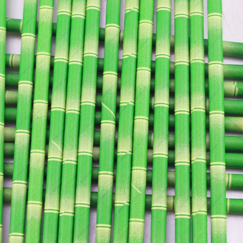 En gros 10000 pièces Pailles de Papier Biodégradables 100 pièces Bambou Pailles à Boire pour la Fête Boissons Décoration