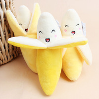 1pcs Cute Dog Toys Pet Puppy Chew Squeaker Squeaky Plush Sound Banana Designs Hot Sale Small