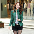 Winter Waddket  women's down wadded jacket short design fashion stand collar slim down cotton-padded jacket shorted jac
