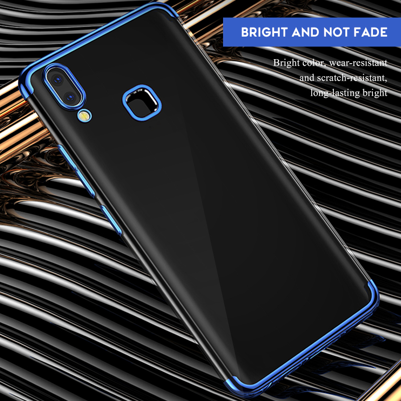 TPU Plating Phone Case For Samsung Galaxy A70 A80 A60 A50 A30 A10 A20 E M10 M20 M30 Clear Cover For Samsung A 70 50 30 M 10 20 in Fitted Cases from Cellphones Telecommunications