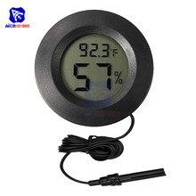 Цифровой LCD гигрометр термометр C/F Режим Температура измеритель влажности монитор для дома автомобиля теплица с Сенсор зонд
