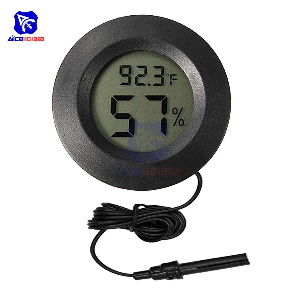 10 Pcs Digital Thermometer Feuchtigkeit Meter Hygrometer Indoor Zeiger Meter Celsius Gewächshaus Temperatur Feuchtigkeit Higromet Analysatoren