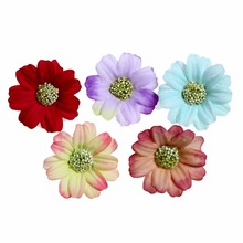 10pcs/lot 1.6 Satin Artificial Flowers Fabric Mesh For Baby Girls Hairband Accessory
