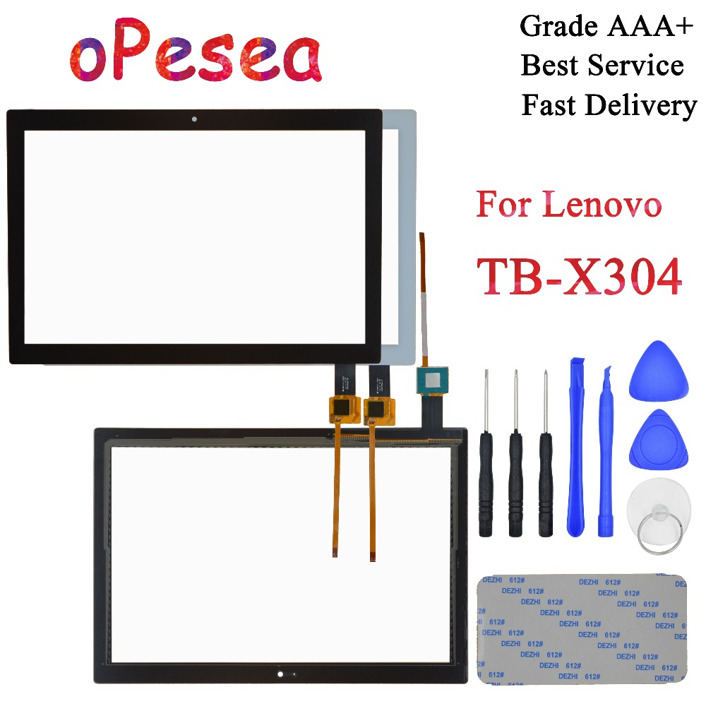 OPesea For Lenovo Tab 4 TB-X304L TB-X304F TB-X304N TB-X304 New Touch Screen Digitizer Front Panel Sensor Glass Replacement Parts