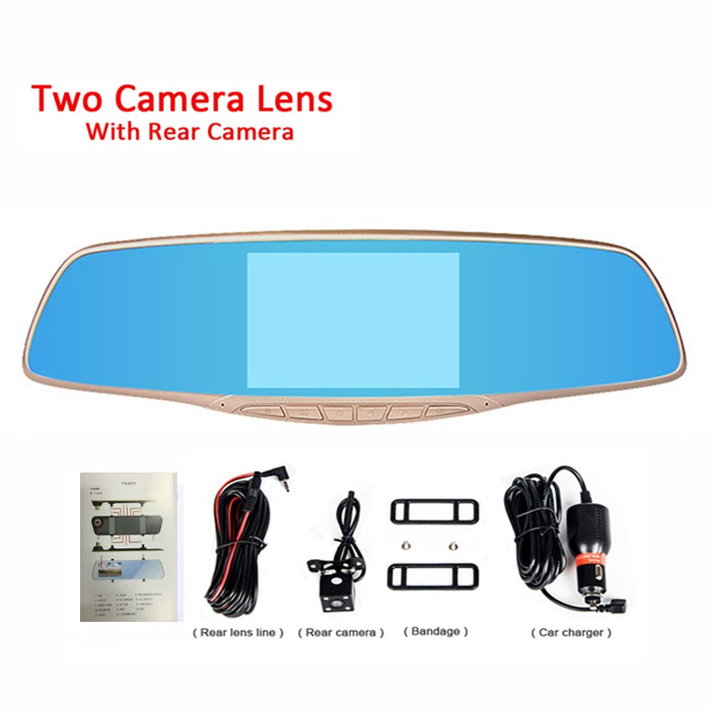Jansite Car DVR Camera Review Mirror FHD 1080P Video Recorder Night Vision Dash Cam Parking Monitor Auto Registrar Dual Lens DVR 24