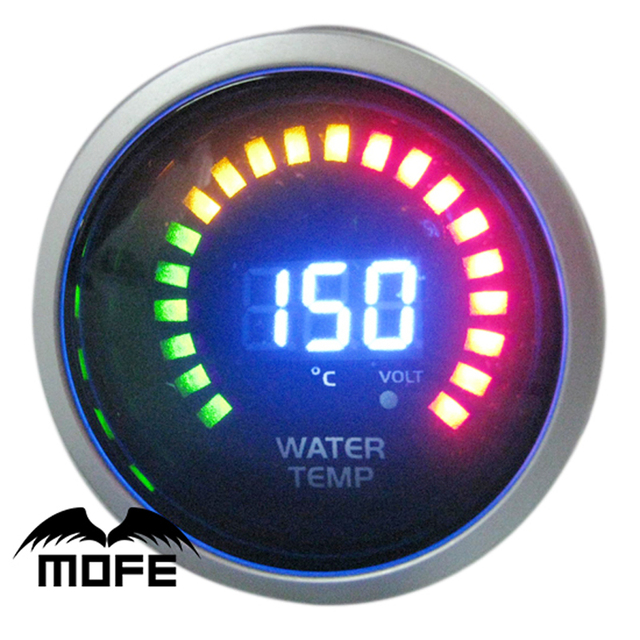 Original Logo 20 Red Yellow Green LCD 2 inch 52mm Water Temp Gauge