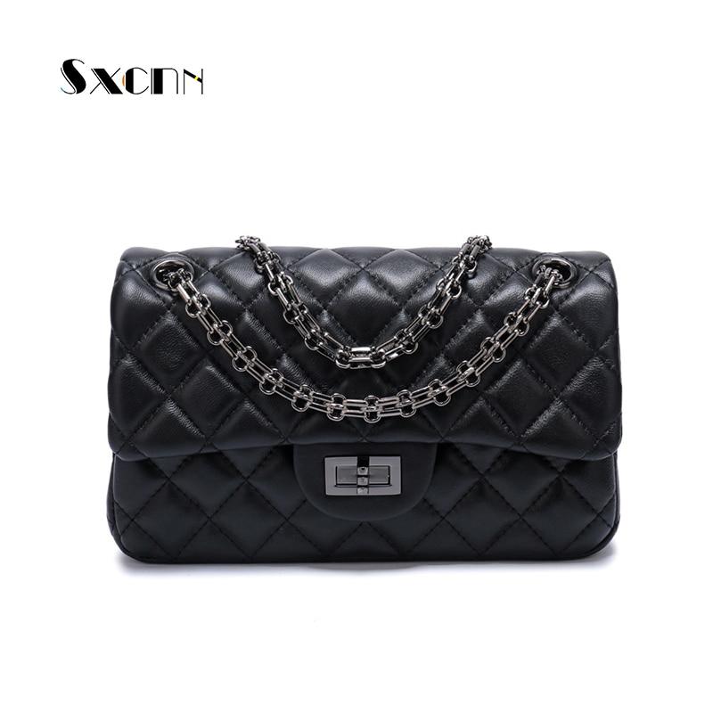 SXCNN Genuine leather Messenger bag Fashion women Shoulder bags High Quality sheepskin ladies Crossbody Handbags Bolsas Feminina