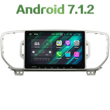 "1024*600 9"" Android 7.1.2 Quad core 2din 2GB RAM 16GB ROM GPS Navigation Car Multimedia Player Radio For Kia Sportage 2016 2017"