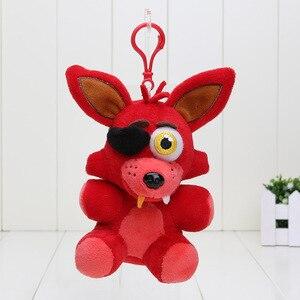 Image 4 - 14cm pięć nocy u freddyego wisiorek lalki niedźwiedź Freddy z FNAF Mangle Foxy Chica miękkie nadziewane pluszowa zabawka do breloczka lalki dla dzieci