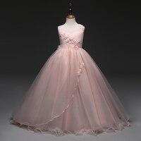 2017 New Prom Party Princess Flower Girl Dress Wedding Long Formal Children Birthday Dresses For Girls