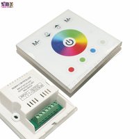 New DC12V 4A 4CH Tempered Glass Panel Digital Touch Screen Dimmer Home Wall Light Switch For