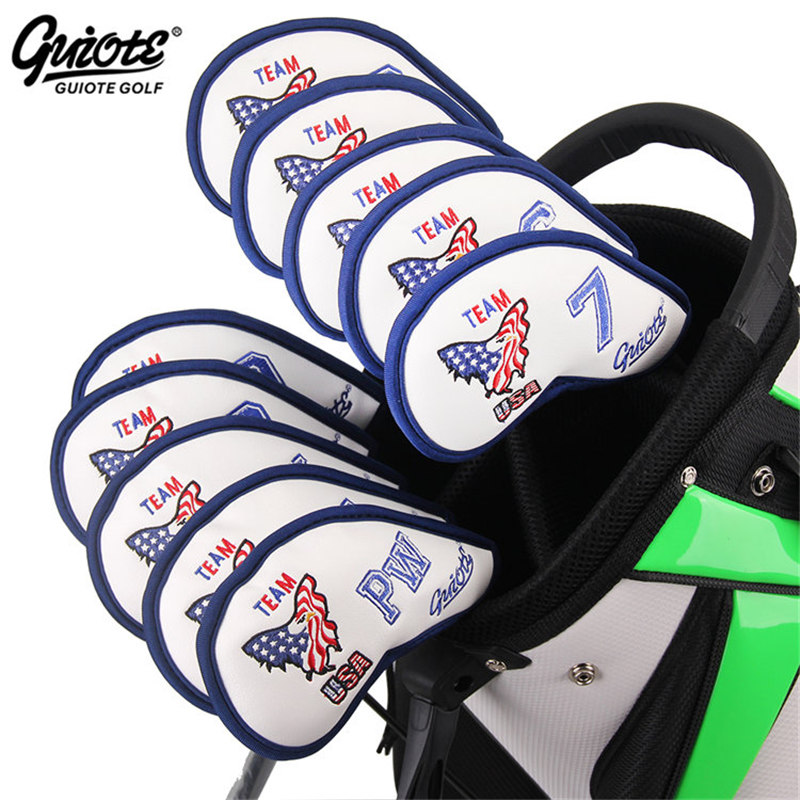 USA Team Golf Irons Headcovers Golf Iron Cover Set Eagle Embroidery Design #3-9PAS 10pcs/lot For Men Women