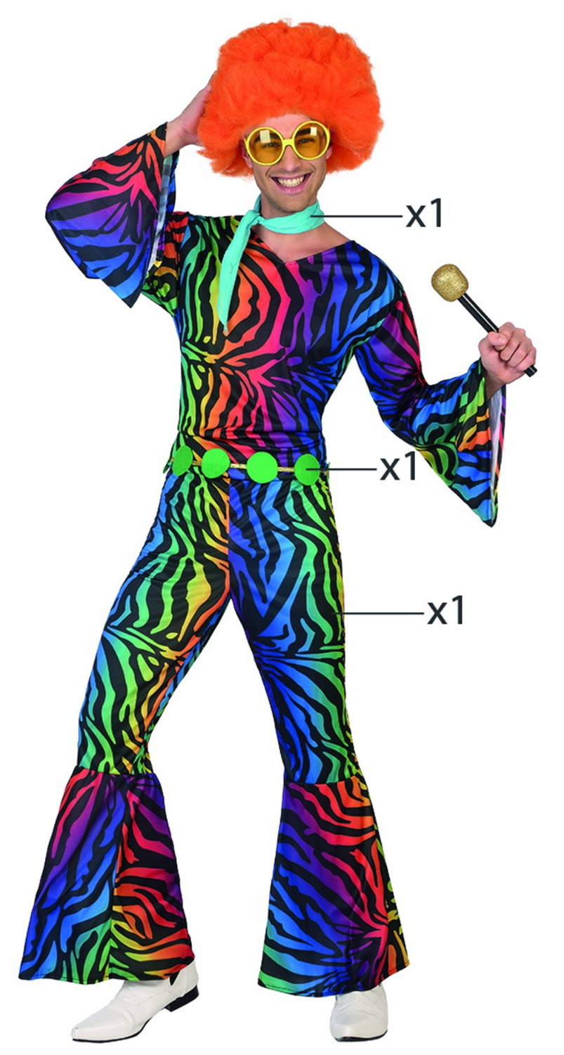 Wholesale - 2017 New Colorful Disco Costume for Men Polyester Party Clothing Adult Disco Jumpsuits Costumes Masquerade 301
