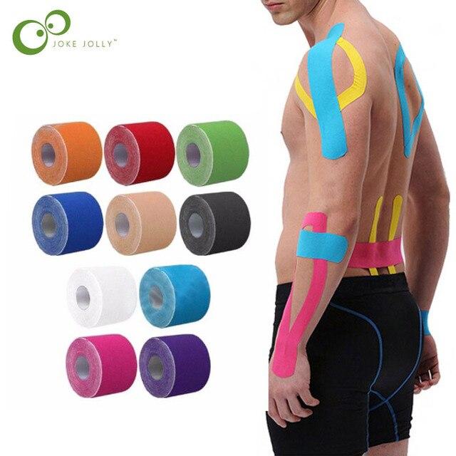 e08f7b9c8 5 m Algodão Elástico a Tensão da Fita Adesiva Rolo Esporte Lesão Muscular  Proteção Apoio Fita