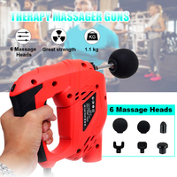 6 Speed Fitness Deep Muscle Massager Guns Handheld Cordless Percussive Vibration Therapy Deep Tissue Massager Electric Massager